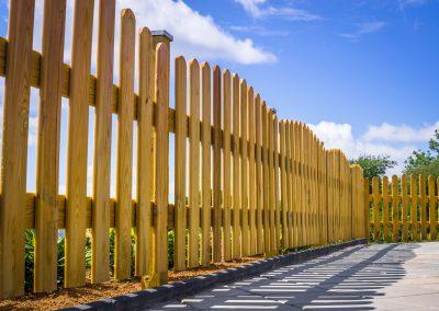 Fence on a terrace